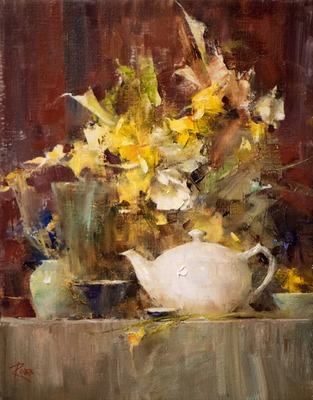 Flowers and Teapot