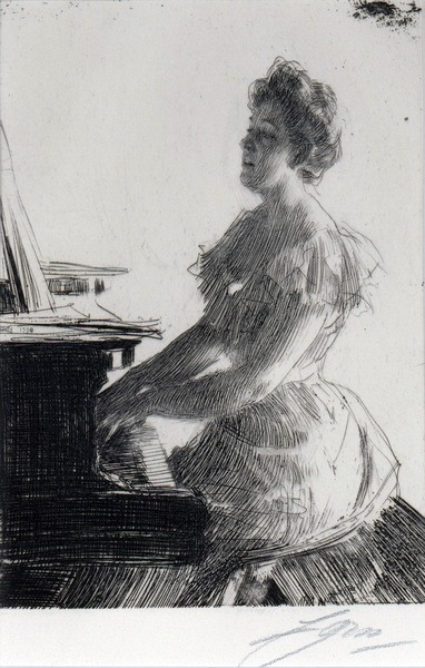 At the Piano (Mrs.Anna Burnett)