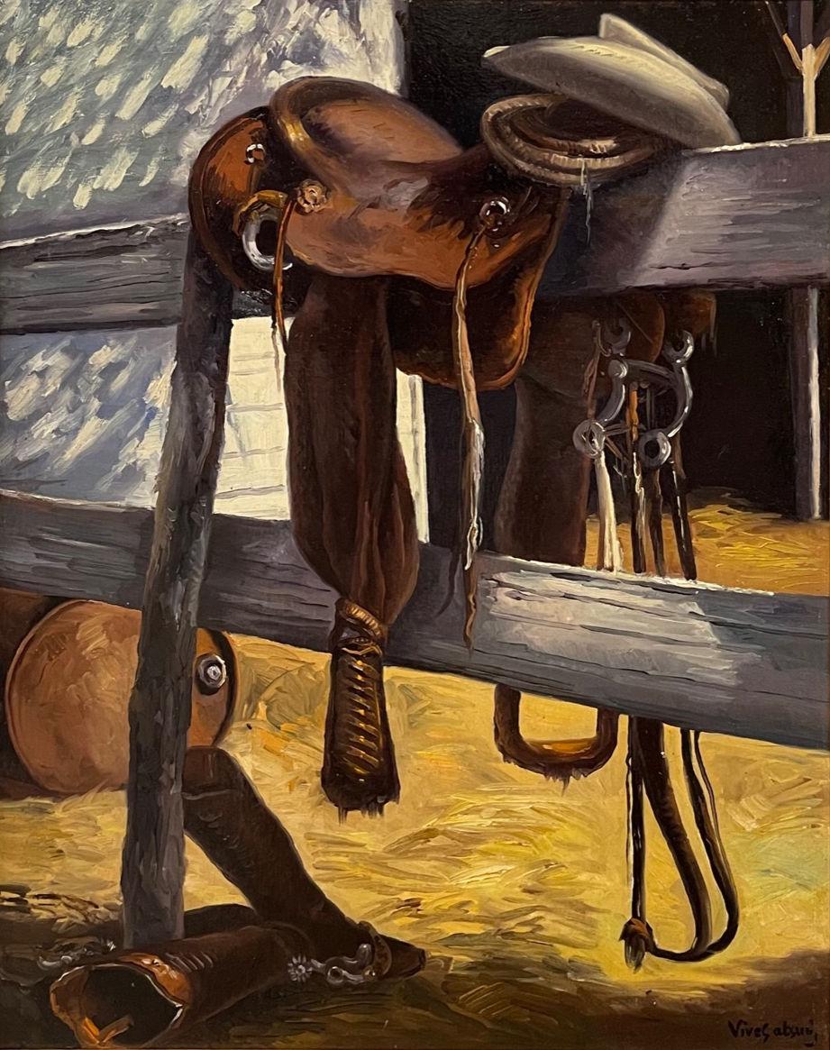 Texas Still Life - Saddle / Cowboy Hat